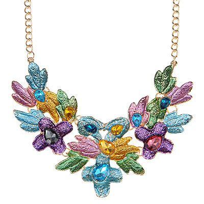Anting Korea Leaves Shape Copper Earrings 1 temperament multicolor decorated leaf shape design alloy bib necklaces asujewelry