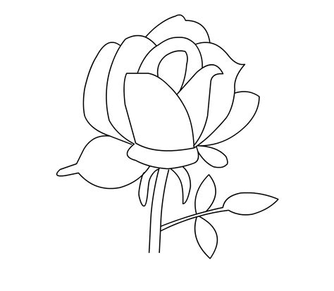 printable images of roses free printable roses coloring pages for kids