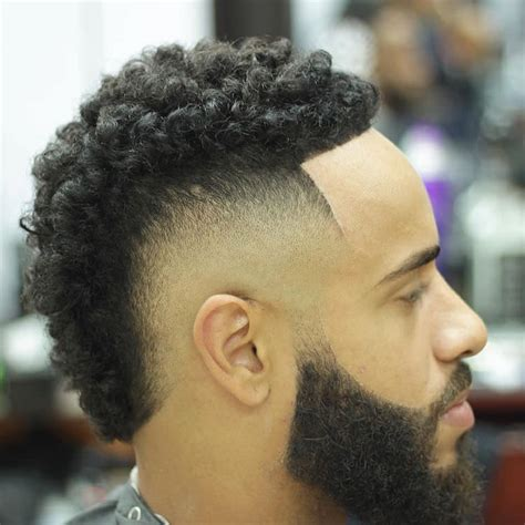 high top curly designs fade haircut black men hairstyles design trends