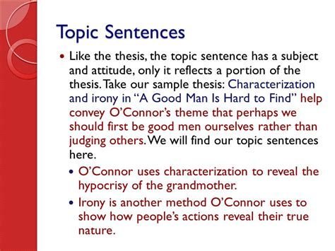 theme essay on a good man is hard to find writing the literary essay ppt video online download