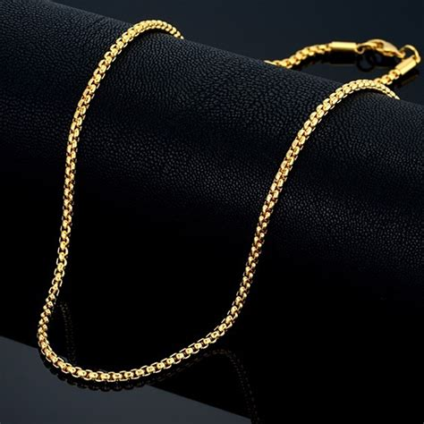 black jewellery small chains 3mm gold chain small necklace 18 quot 22 quot 24 quot mens womens