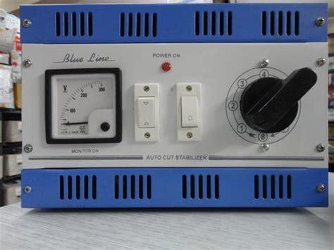 voltage stabilizers blue  manual auto cut voltage