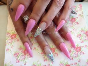 Black gel nail designs hot pink and white gel nails nail arts overview