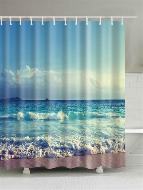 ocean curtains ocean print bath decor waterproof shower curtain in