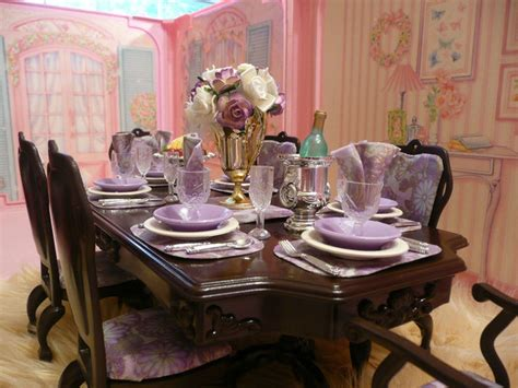 barbie dining room set what you see here is a one of a kind dining room set