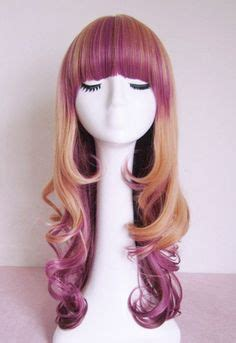 racheal edwards wigs etsy com listing 164453849 purple highlighted blonde wig
