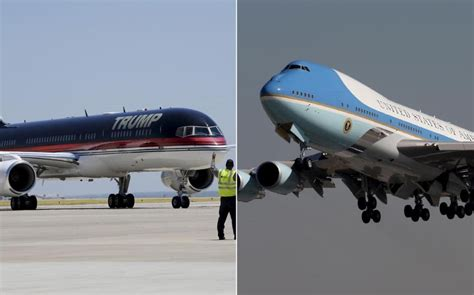 trump s plane donald trump s plane vs air force one which is more