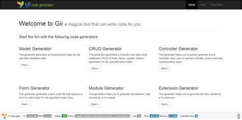 tutorial yii 2 indonesia gii การใช gii generator สำหร บ basic template