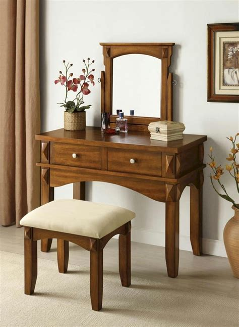bedroom inspiring vanity dresser idea with brown teak