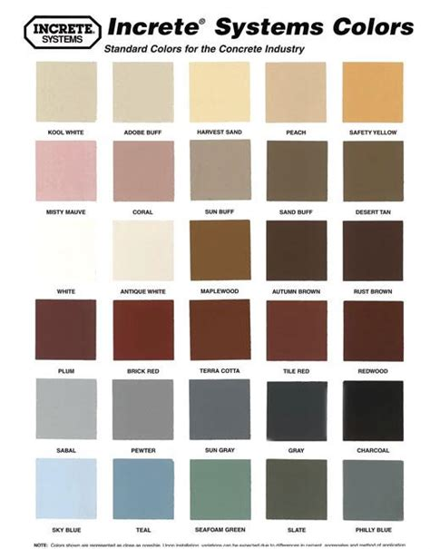 sherwin williams concrete color chart pictures to pin on pinsdaddy