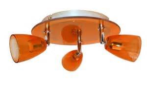 vitrine en verre 1242 plafonnier verre orange m 233 tal 3x50w gu10 kobia