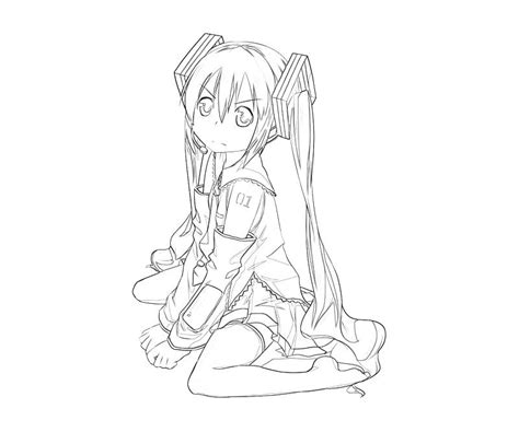 miku hatsune free coloring pages