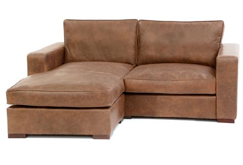 compact leather corner sofa battersea chaise end compact leather corner sofa from old