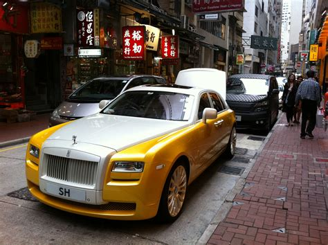 roll royce yellow file hk sheung wan wing lok street rolls royce automobile