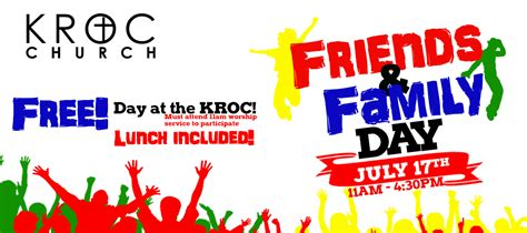 day with family kroc church friends and family day