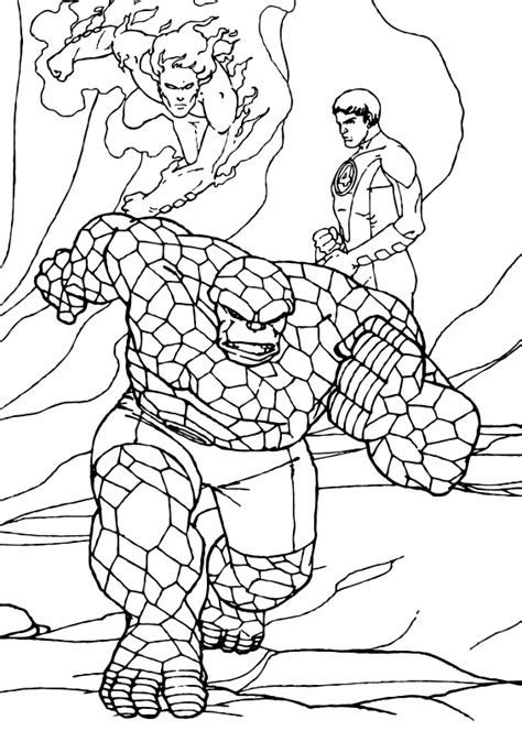 The Thing Fighting For Justice Coloring Pages Hellokids Com The Thing Coloring Pages