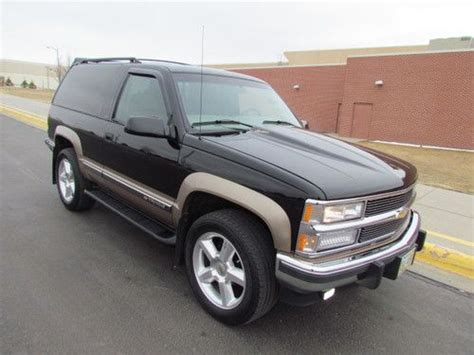 Two Door Tahoe For Sale by Sell Used Chevrolet Sport Utility Tahoe K1500 Extremely