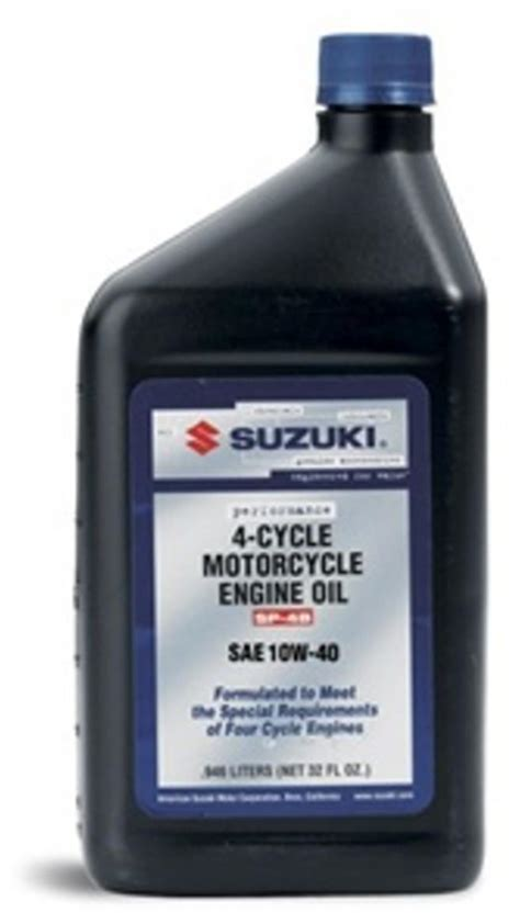 Suzuki Motorcycle 10w40 Suzuki Performance 4 Cycle Motorcycle Engine 10w40 Ebay