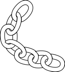 Bike Chain Outline by White Chain Clip At Clker Vector Clip Royalty Free Domain
