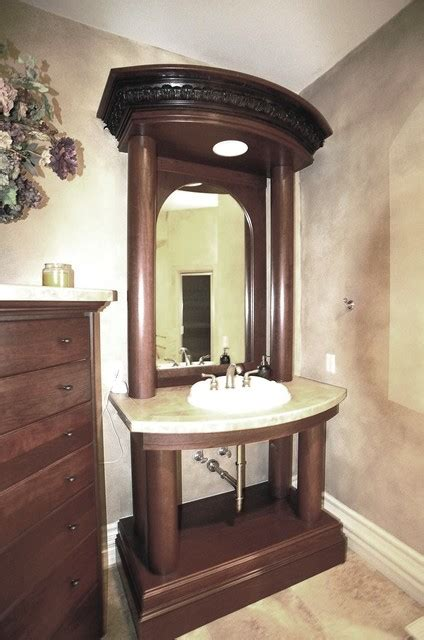 cherry wood bathroom traditional style cherry wood guest bathroom vanity