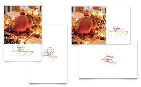 Happy Thanksgiving Greeting Card Template   Word & Publisher