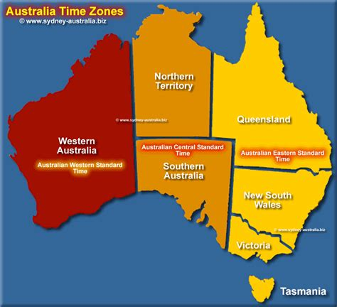 australia at time time zones map for australia