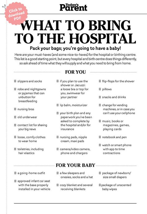 what to bring to the hospital for c section photos bild galeria hospital bag checklist