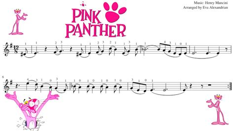 tutorial piano pink panther pink panther violin sheet music youtube