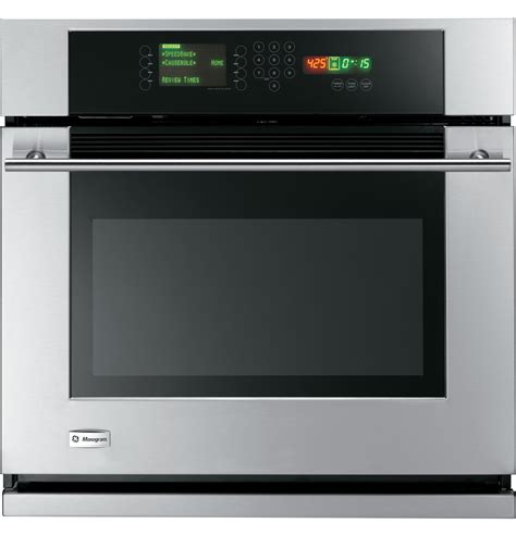 zet3038shss ge monogram 174 30 quot built in single wall oven