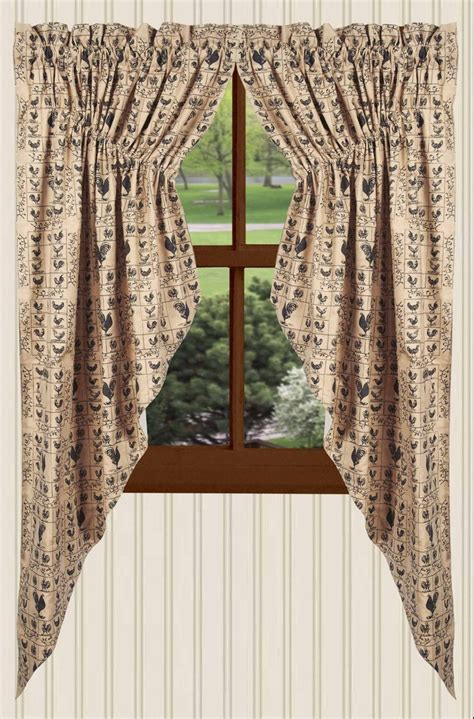 gathered swag curtains cockadoodle gathered swag curtain black