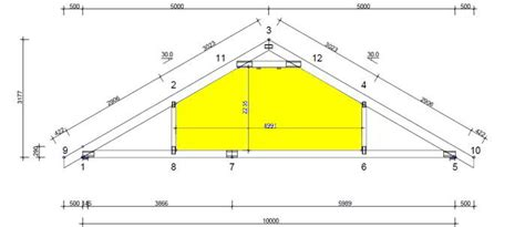 Attic Truss Room Size by Timber Roof Rafter Dimensions Crafts