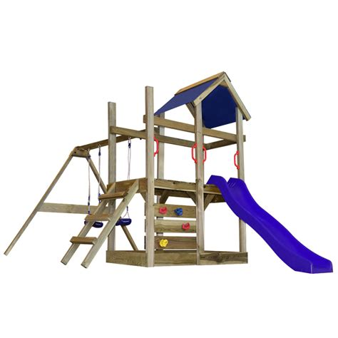 action swing set with slide vidaxl co uk wooden playset with ladder slide and swings m