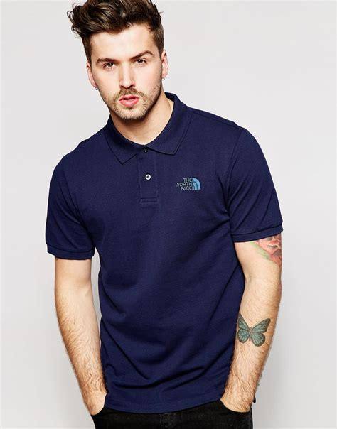 T Shirt The Nort Nafy the polo shirt with logo in blue for lyst