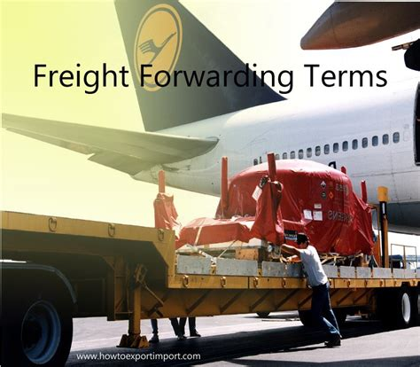 terms used in freight forwarding such as advanced shipping