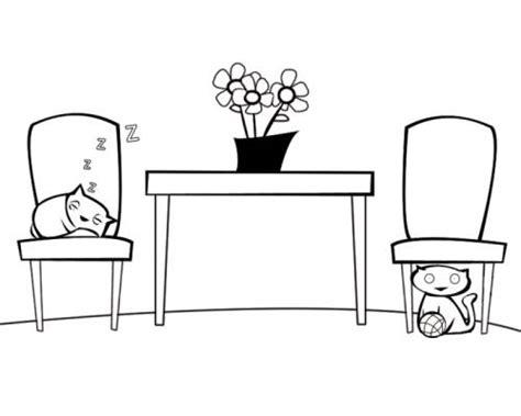 wohnzimmer ausmalen kostenlose malvorlage menschen und ihr zuhause katzen im