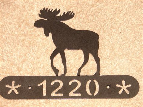 Moose Wall Decor by Moose Metal Home Address Plaque Wall Decor House Sign Ebay