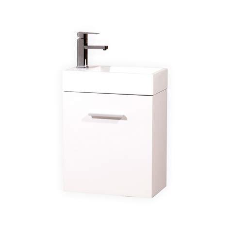 High Gloss Bathroom Vanity Bliss 18 Quot High Gloss White Wall Mount Modern Bathroom Vanity