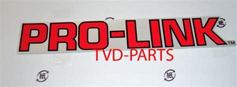 Honda Prolink Aufkleber by Pro Link Sticker Achterbrug Rood Met Grijze Achtergrond