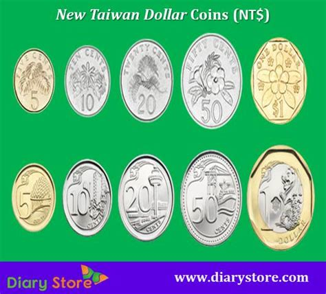 New Taiwan Dollar Taiwan Currency Twd Diary Store