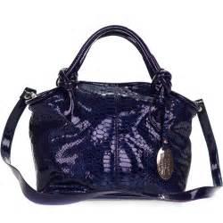 Giordano Original Leather giordano italian made blue patent leather python embossed