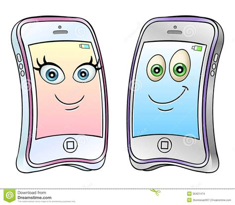 cartoon themes cell phone cartoon mobile phones stock vector image of electronics