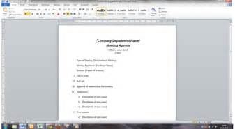 agenda template word improve the way you create and use meeting papers in word