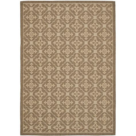 safavieh cy6126 39 courtyard indoor outdoor area rug gold lowe s canada safavieh courtyard brown 4 ft x 5 ft 7 in indoor outdoor area rug cy6564 22 4 the