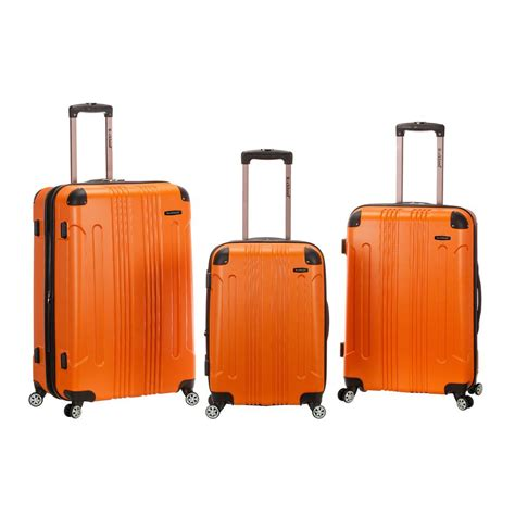 rockland abs upright set with spinner wheels luggage 3