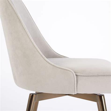 velvet swivel desk chair mid century swivel office chair velvet west elm