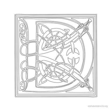 printable gaelic alphabet print free alphabet stencils celtic d crafts handmade