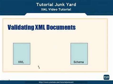 tutorial about xml xml tutorial 35 validating xml documents youtube