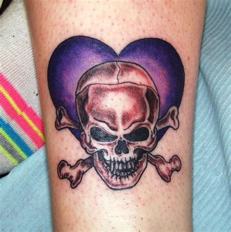 skull and cross bones tattoo purple and skull and cross bones from conspiracy ink