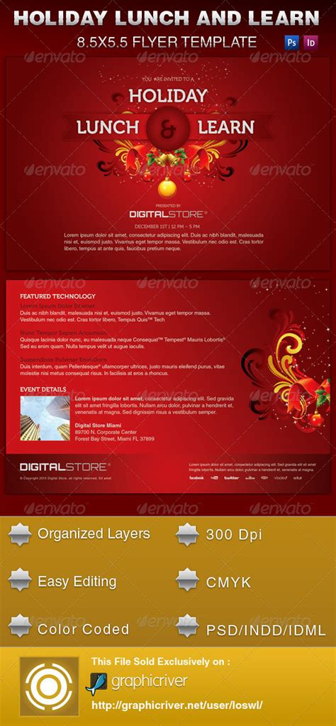 Lunch Party Invitation Template 187 Dondrup Com Lunch And Learn Flyer Template