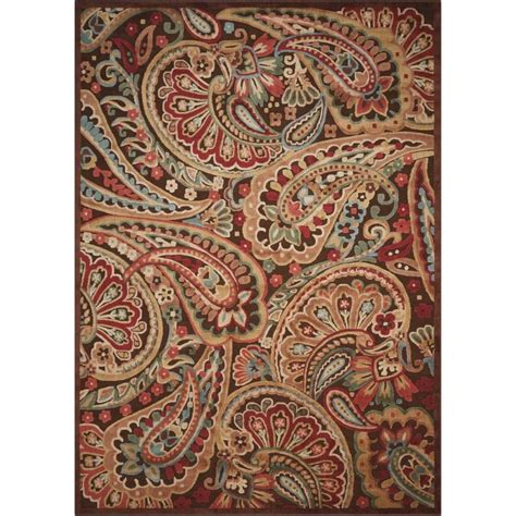Graphic Area Rugs Shop Nourison Graphic Illusions Indoor Area Rug Common 8 X 10 Actual 7 75 Ft W X 10 83 Ft L